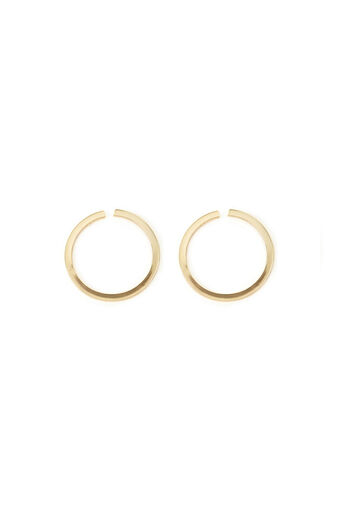 Warehouse, FLAT HOOP STUD EARRINGS Gold Colour 0