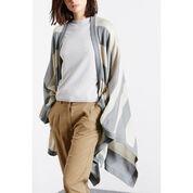 Warehouse, Stripe Knitted Cape Multi 3