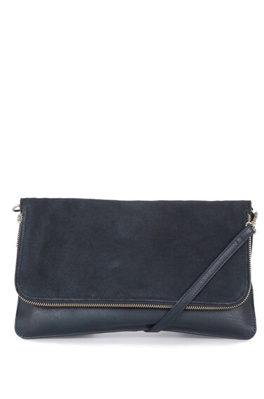 Warehouse, Leather CrossBody Bag Navy 0