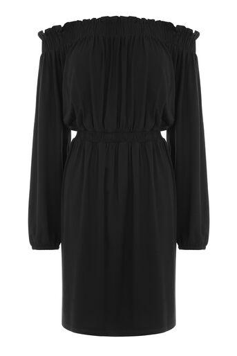 Warehouse, OFF SHOULDER DRESS Black 0
