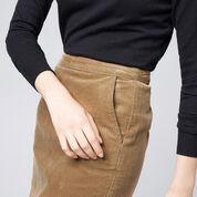 Warehouse, Cord Pelmet Skirt Brown 4