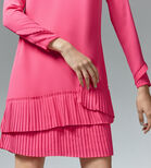 Warehouse, PLEATED HEM SHIFT DRESS Bright Pink 4