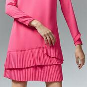 Warehouse, PLEATED HEM SHIFT DRESS Bright Pink 4