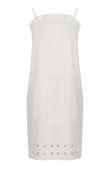 Warehouse, Square Cutwork Cami Dress White 0