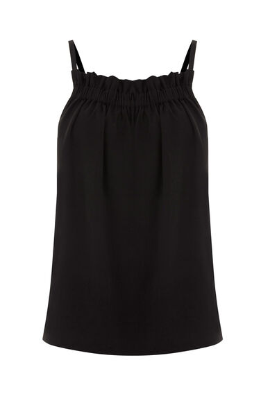 Warehouse, RUCHED CREPE CAMI Black 0