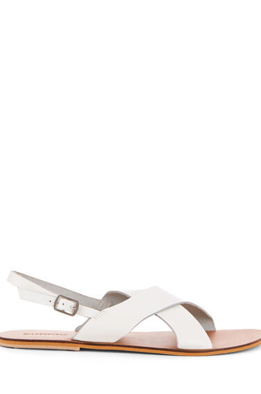 Warehouse, CROSS FRONT SLINGBACK SANDAL White 0