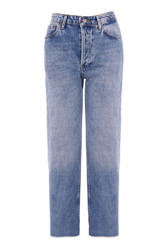 Warehouse, AUTHENTIC CUT JEANS Light Wash Denim 0
