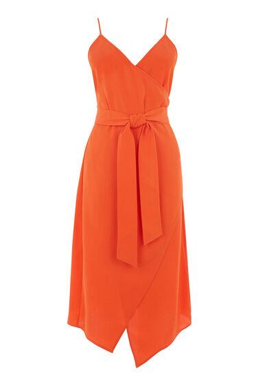 Warehouse, WRAP CAMI DRESS Orange 0