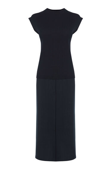 Warehouse, HYBRID SHIRT DRESS Navy 0