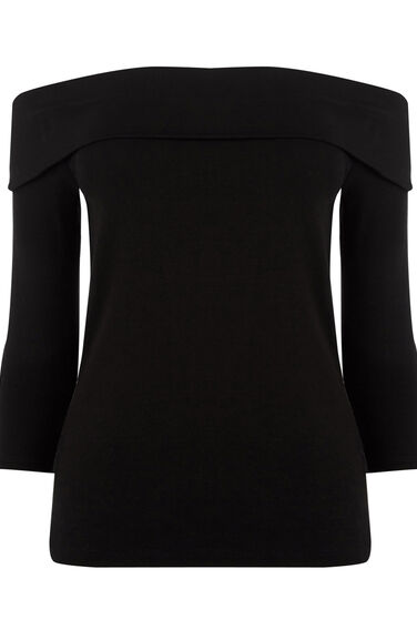 Warehouse, BARDOT TOP Black 0