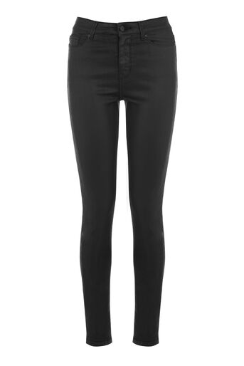 Warehouse, COATED SKINNY CUT Black 0