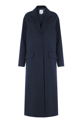 Warehouse, Longline Duster Coat Navy 0