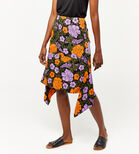Warehouse, MICA CARNATION SKIRT Orange 3