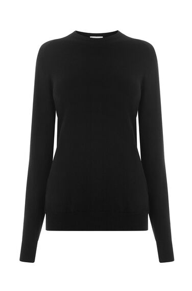 Warehouse, CREW JUMPER Black 0