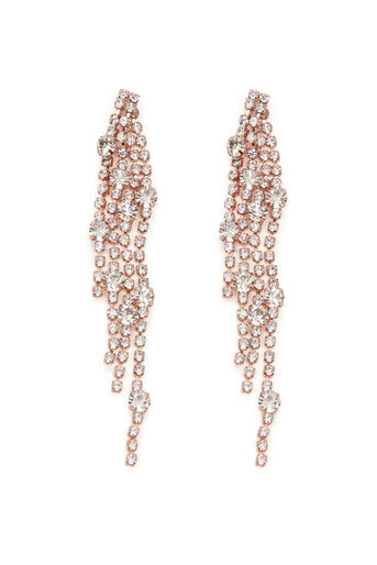 Warehouse, WATERFALL CRYSTAL EARRINGS Rose Gold 0