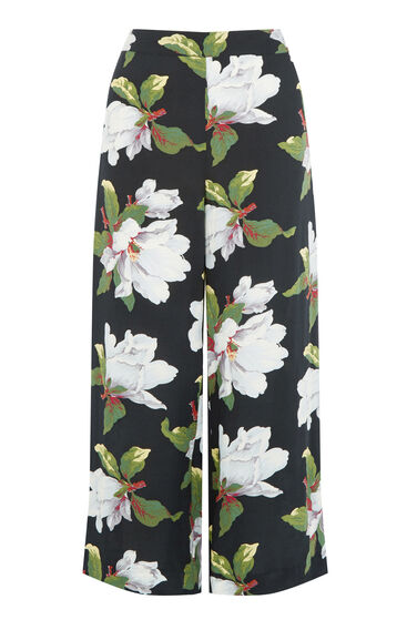 Warehouse, MAGNOLIA CULOTTES Black Pattern 0