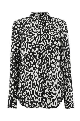 Warehouse, LEOPARD PRINT SHIRT Black Pattern 0