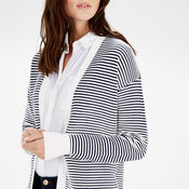 Warehouse, OTTOMAN STRIPE CARDI Black Stripe 4
