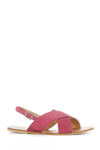 Warehouse, CROSS FRONT SLINGBACK SANDAL Bright Pink 0