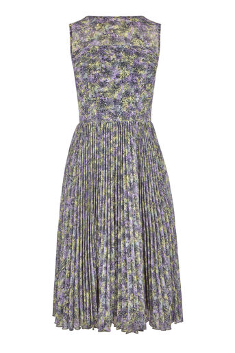 Warehouse, PRINTED PLEATED MIDI DRESS Multi 0