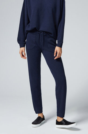 Warehouse, CASHMERE JOGGER Navy 1