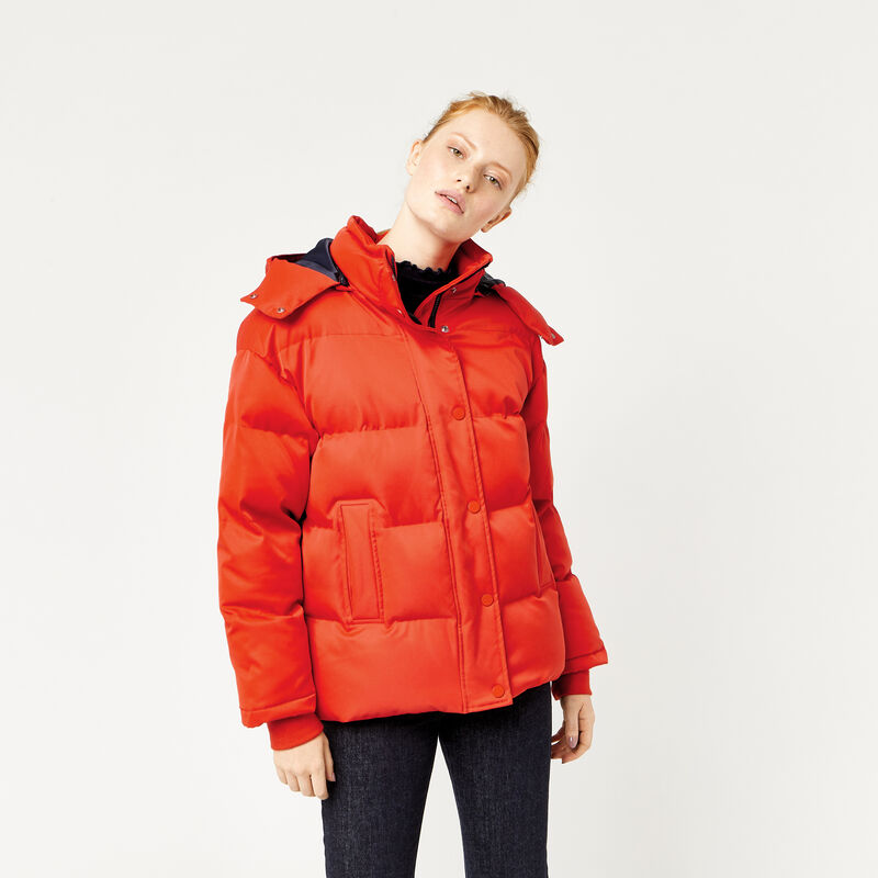 Warehouse, Fashion Padded Coat Bright Red 1