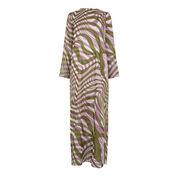 Warehouse, WARP PRINT MAXI DRESS Purple Pattern 0