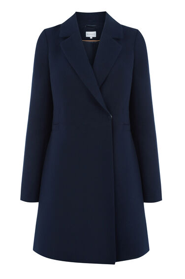 Warehouse, Smart Tailored Coat Navy 0