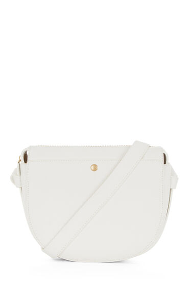 Warehouse, POCKET POPPER SADDLE BAG White 0