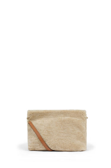 Warehouse, SHEEPSKIN SLOUCHY BAG Camel 1