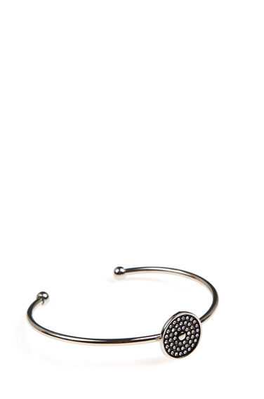 Warehouse, Embellished Disc Bracelet Silver Colour 0