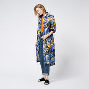 Warehouse, Peony Pop Windbreaker Blue Pattern 2