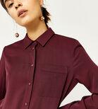 Warehouse, POPPER PLACKET SHIRT DRESS Dark Red 4