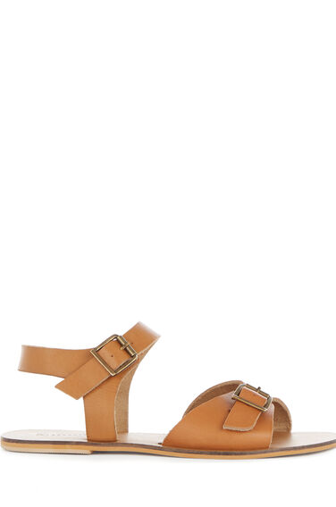 Warehouse, DOUBLE BUCKLE SANDAL Tan 0