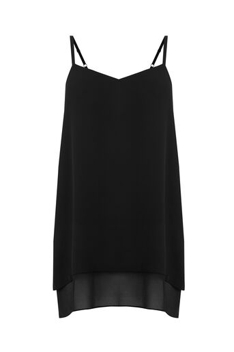 Warehouse, DOUBLE LAYER CAMI Black 0