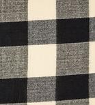 Warehouse, TONAL CHECK SCARF Black Pattern 2