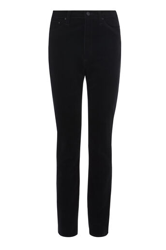 Warehouse, HIGH RISE VELVET SKINNY JEANS Black 0