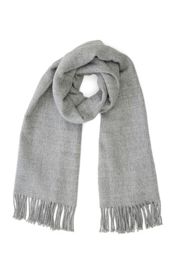 Warehouse, SOFT PLAIN SCARF Light Grey 0