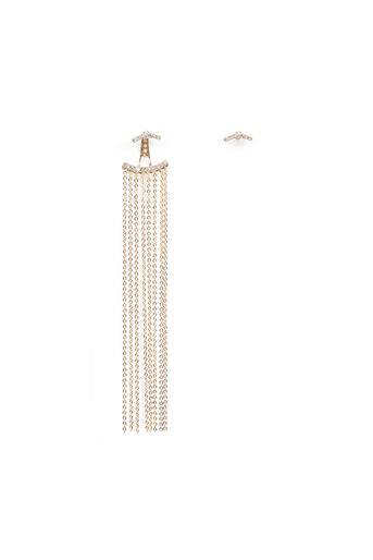 Warehouse, SINGLE STATEMENT DROP EARRING Gold Colour 0