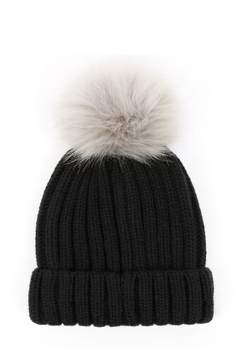 Warehouse, FAUX FUR POM HAT Black 0