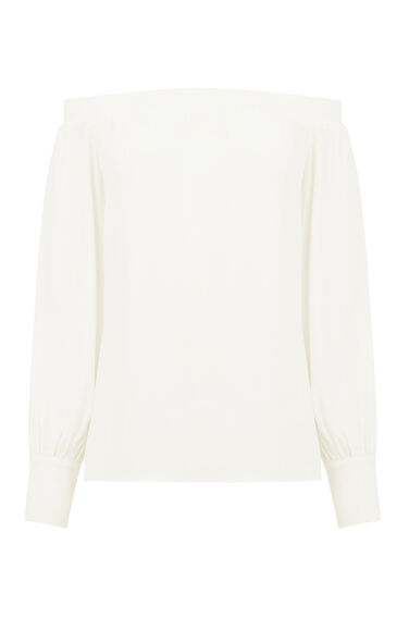 Warehouse, OFF SHOULDER TOP Cream 0