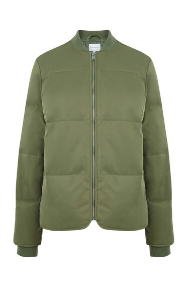 Warehouse, Padded Bomber Jacket Khaki 0