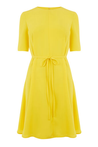 Warehouse, FLIPPY DRESS Yellow 0