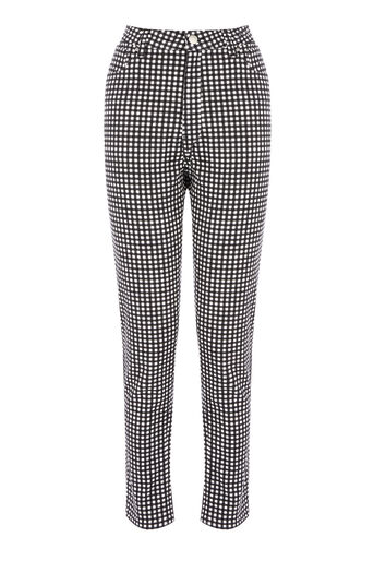 Warehouse, GINGHAM JEAN Black Pattern 0