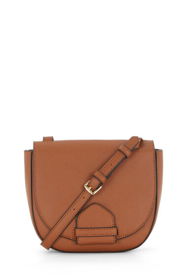 Warehouse, KEEPER SADDLE CROSS BODY BAG Tan 0