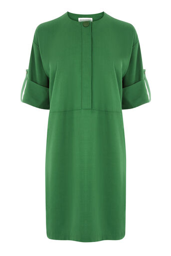 Warehouse, POPPER DETAIL DRESS Bright Green 0