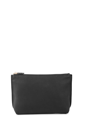 Warehouse, Grainy Clutch Bag Black 0