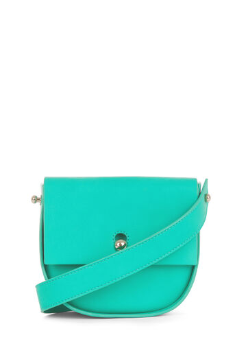 Warehouse, KEYHOLE SADDLE CROSS BODY BAG Bright Green 0