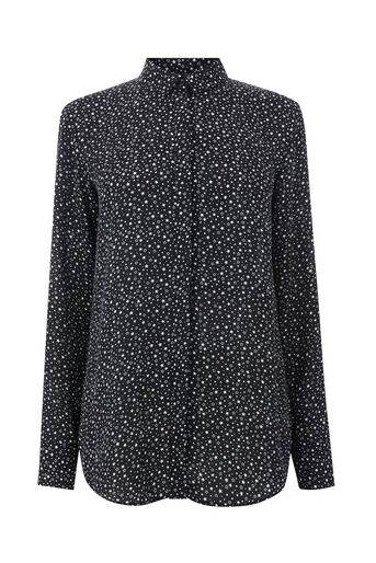 Warehouse, SOFT STAR PRINT SHIRT Black Pattern 0