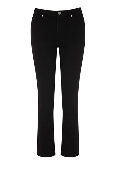 Warehouse, The Straight Cut Jean Black 0